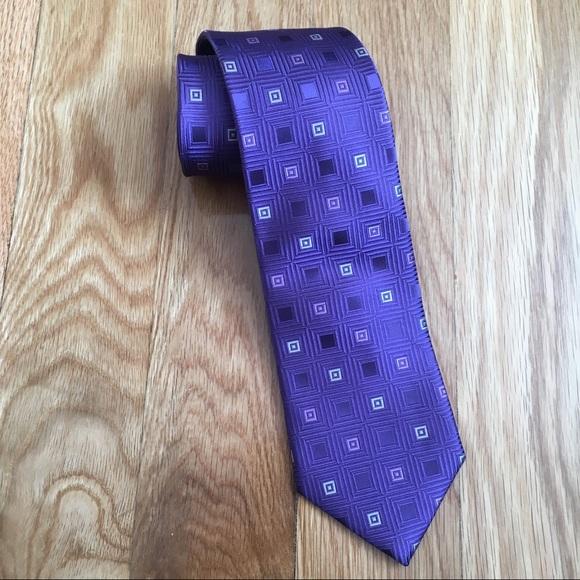 Micheal Kors 100% Silk Purple Color Tie